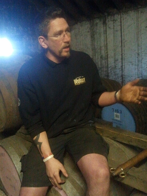 Calum, our BenRiach tour guide