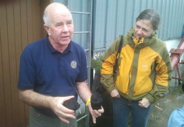John explains peat