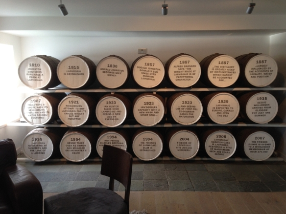 All Laphroaig owners on display in the FoL room