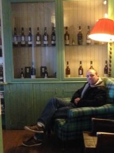 Waiting and enjoying the whisky cabinet