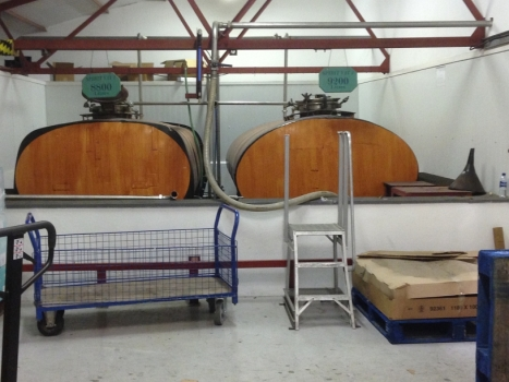 Spirits tanks before bottling