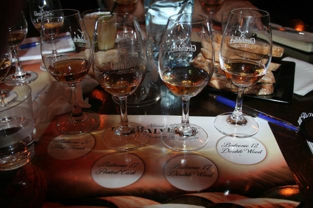 The Balvenie tasting lineup