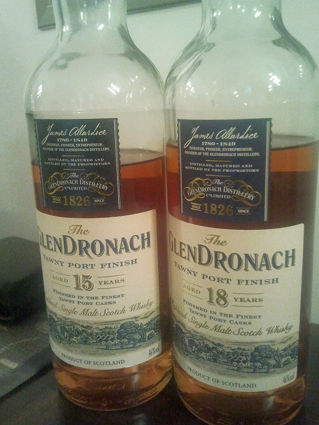 Battle of Glendronach Tawny Port Finish: 15yo vs 18yo