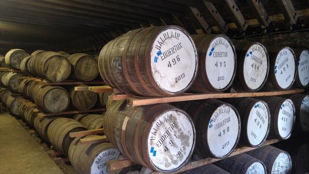 Barrels in Balblair dunnage warehouse
