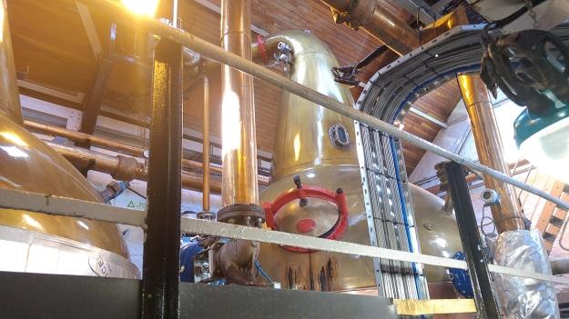 The stills at Balblair distillery