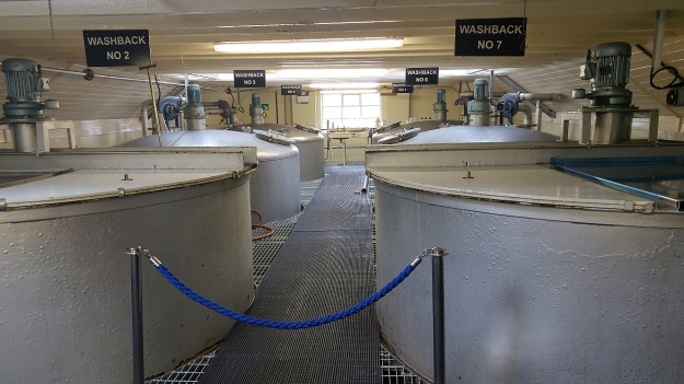 Washbacks at Scapa distillery