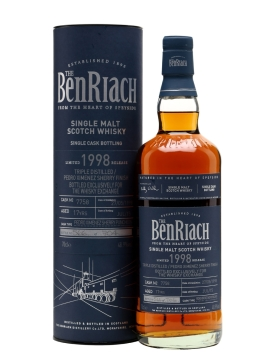 benriach 1998 17yo triple distilled px finish twe