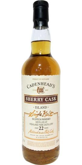 cadenhead highland park 22 wood series sherry cask