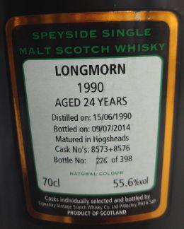 longmorn 1990 24yo signatory