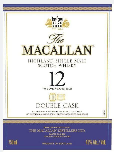 macallan 12 double cask front