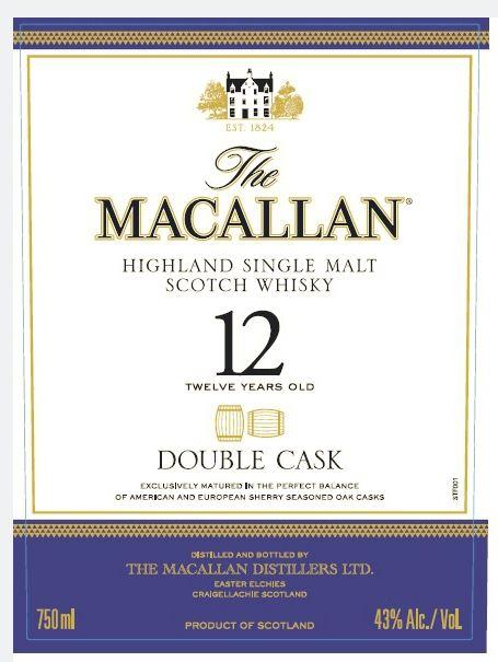 macallan 12 double cask front