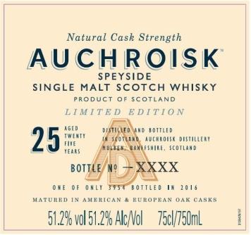 auchroisk 25yo special releases 2016