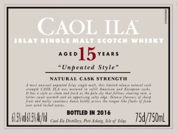 caol ila unpeated 15 special releases 2016